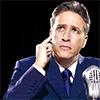 healingmirth: Jon stewart as an old-timey radio broadcaster (jon stewart)