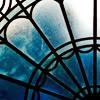 dreams_in_color: ornate window (stock - ornate window in blue)