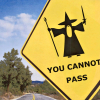 fragoleconcrema: lotr | gandalf roadsign (fandom favourites #5)
