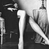 cleo: Famke Jansen's legs in black and white (Famke legs)