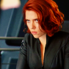 theleaveswant: Natasha (Scarlett Johansson) in The Avengers glaring (Natasha gonna keeeell you)