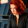 theleaveswant: Natasha (Scarlett Johansson) in The Avengers glaring (Natasha gonna keeeell you)
