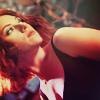 theleaveswant: Natasha (Scarlett Johansson) in The Avengers checking her surroundings mid-fight (Natasha badass)