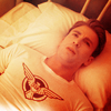 theleaveswant: Steve (Chris Evans) in Captain America lying on a bed looking up, stressedly (Steve oh jeez)
