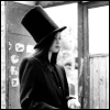 nightmareink: woman wearing top hat in black and white (Pretty - Top Hat)