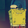 lizcommotion: Spongebob Squarepants smiling wearing a Krusty Krab hat (spongebob smile)