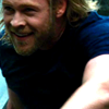 theleaveswant: Thor (Chris Hemsworth) in Thor running and grinning (Thor WHEEE)