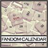 fandomcalendar: scattered scrabble tiles printed with numbers and weekdays (calendar_tiles)