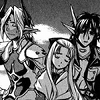 rebelwithaclock: Aion, Mary and Chrono sitting side-by-side, exhausted but triumphant. Aion has his hand resting on Mary's shoulder. (⌚ I thought we'd always be together.)