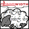 inoru_no_hoshi: A Dreamwidth Dreamsheep with Tengwar (Elvish script) for its fleece. (Tengwar)