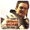 "eleanorjane: Sulu kicking ass, text ""that's Lieutenant Badass to you"". (badass)"