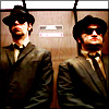 eleanorjane: Jake and Elwood in the elevator (zombie)