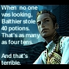 lynndyre: Balthier stole 40 potions, and that's terrible. (Balthier terrible)