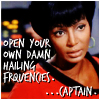 "sidravitale: Uhura ""open your own damn hailing frequencies"" LJ icon by taraljc (STTOS taraljc uhura)"