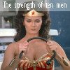 "sidravitale: Wonder Woman ""strength of 10 men"" LJ icon by tetrap (Wonder Woman 10 Men)"