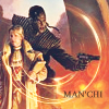 "azurelunatic: Jago guarding Bren, captioned ""man'chi"". (Cover art from C.J. Cherryh's Foreigner series.)  (man'chi, Foreigner)"