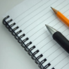 gothicca: spiral notebook, pencil, pen (writing)