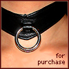 "anatsuno: ana's throat in a leather collar, and the words ""for purchase"" (handle without care)"
