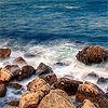 nebulosity: (nature: ocean on rocks)