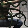 kickair8p: Tentacles growing out of a man's back. (TentacleMan01)
