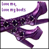 jmtorres: Purple boots. Love me, love my boots. (purple, boots)