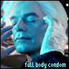 jmtorres: Warhol from Mutant X. Full body condom. (MX, condom, safe sex, evil)
