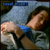 jmtorres: Quinn from Sliders asleep with book open on his chest. Text: Sweet dreams. (sleep)