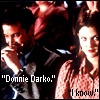 "jmtorres: Teachers from film Donnie Darko sitting next to each other in auditorium. Text: ""Donnie Darko."" ""I know."" (teachers, darko, het)"