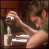 jmtorres: Daniel from SG1 pours lots of sugar into his coffee. (Daniel)