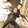 ymfaery: Hawkeye taking aim as he falls backward off a building? (Avengers: Hawkeye falling shooting)