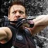 ymfaery: Hawkeye aiming at something off-screen (Avengers:  Hawkeye taking aim)