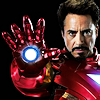 ymfaery: Iron Man without helmet holding up hand (Avengers: Iron Man taking aim)
