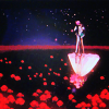 aberration: Anthy and Utena in the Utena movie, dancing in the flooded rose garden above their reflection. (we shall all be healed)
