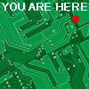 elf: Computer chip with location dot (You Are Here)