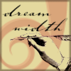 "damned_colonial: A hand with a quill writing the word ""dreamwidth"" (dreamwidth)"