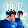 st_aurafina: Spock and Bones with science faces (Star Trek: Team Science)