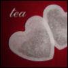 "leora: A heart-shaped tea-holder and the word ""tea"". (tea)"