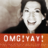 jissa: OMG! YAY! underneath a picture of Vala grinning (q: omg, f: stargate, f: sg1, m: yay!)