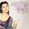 fizzyblogic: [Merlin] Katie in full Morgana costume doing the rock hands (\m/)