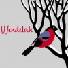 wendelah1: A bird on a branch plus my user name, Wendelah (Wendy Bird)