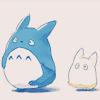 pisces: (「ghibli 」 Chu and Chibi Totoro)