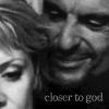 """rydra_wong: SG-1: Ba'al invades Sam's personal space; text """"closer to god"""" (sam/ba'al - closer to god)"""