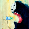 outlineofash: No-Face from Spirited Away is about to devour one of Yubaba's workers. (Media - Spirited Away)