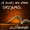 "kerravonsen: An open book: ""All books are either dreams or swords."" (books)"