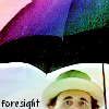 kerravonsen: 7th Doctor with an open umbrella: foresight (foresight)