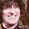 kerravonsen: 4th Doctor grinning: *grin* (grin, Doc4-grin)