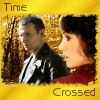"kerravonsen: Ninth Doctor and Cally in autumn forest: ""Time Crossed"" (time-crossed, CallyDoc)"