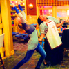 goodbyebird: Community: Britta and Shirley dances enthusiastically. (Community Rooooxanne)