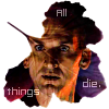 "kerravonsen: Ninth Doctor, silhuette of autumn leaf: ""All things die."" (Doc9-all-things-die, all-things-die)"