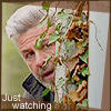 kerravonsen: Joe peering around a corner: Just watching (just-watching)